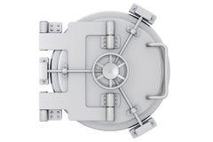 Metallic bank vault door Royalty Free Stock Image