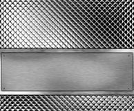 Metallic banner Royalty Free Stock Image