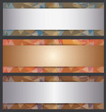 The Metallic Banner Abstract Template Royalty Free Stock Photo