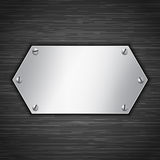 Metallic banner Stock Photography