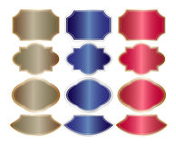 Metallic banners. Red blue brown Stock Image