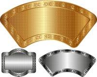 Metallic banners Stock Images