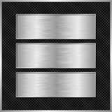Metallic banners Stock Images