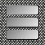 Metallic banners Royalty Free Stock Image