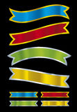 Metallic banners (vector). Colors prepared for printing media vector illustration