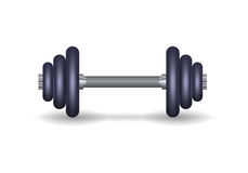 Metallic barbell. Vector illustration Stock Photo