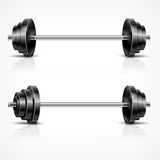 Metallic barbells Royalty Free Stock Photo