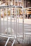 Metallic barrier on the street Stock Photography