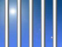 Metallic bars. With blue sky background. Illustration Royalty Free Stock Image