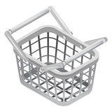 Metallic basket in isometric view isolated Stock Photos