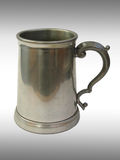Metallic beer mug. I drank a lot of lager from this cup Stock Photography