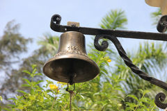 Metallic bell in the Ernest Hemingway House Stock Images