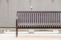 Metallic bench at outdoor Stock Photos
