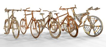 Metallic Bicycles Stock Image