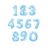 Metallic Blue Letter Balloons 123. Metallic Black Letter Balloons, 123 dark numeral alphabeth. Black Number Balloons, 1, Alphabet Letter Balloons, 2, Number vector illustration