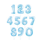 Metallic Blue Letter Balloons 123. Metallic Black Letter Balloons, 123 dark numeral alphabeth. Black Number Balloons, 1, Alphabet Letter Balloons, 2, Number royalty free illustration