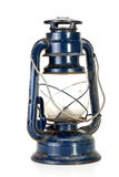 Metallic Blue Parafin Lamp with Misty Glass Royalty Free Stock Images