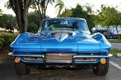 Metallic blue sports car Stock Image