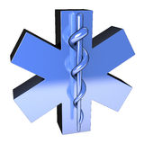 Metallic blue star of life, from top left Royalty Free Stock Images