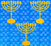 Metallic Blue Texture Hanukkah 2016 Stock Images
