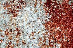 Metallic blue wall with rust close up. Abstrackt consept background.  stock photo