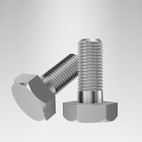 Metallic bolts Royalty Free Stock Photo