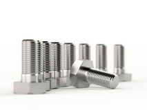 Metallic bolts Stock Images