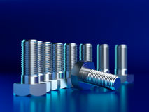 Metallic bolts Stock Image