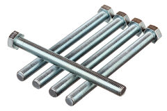 Metallic bolts Royalty Free Stock Photography