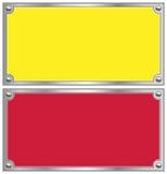 Metallic border. On white background Royalty Free Stock Photo