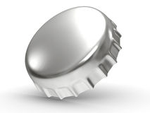 Metallic bottle cap - 3d render Royalty Free Stock Images