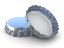 Metallic bottle cap - 3d render Royalty Free Stock Photo