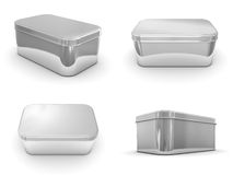 Metallic Boxes Royalty Free Stock Image