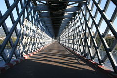 Metallic Bridge. An inside view of internation Tuy (Spain) - Valença (Portugal) metallic bridge Stock Photos