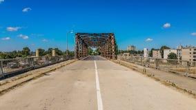 Metallic bridge. Old metallic bridge in Port Mangalia Romania Stock Photo