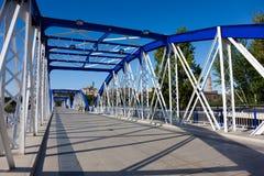Metallic bridge of the Pilar Royalty Free Stock Photos