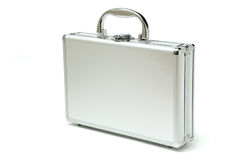 Metallic briefcase Stock Image