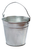 Metallic bucket. Isolated on a white background Royalty Free Stock Photos