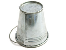 Metallic bucket against the white Royalty Free Stock Images