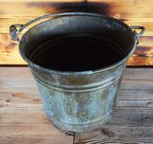 Metallic bucket Stock Images