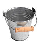 Metallic bucket. Isolated on white background Stock Photography