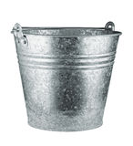 Metallic bucket Royalty Free Stock Photos