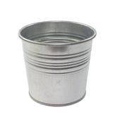 Metallic bucket. On white background Stock Photos