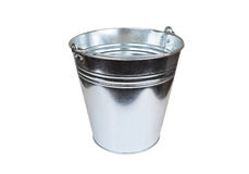Metallic bucket Royalty Free Stock Photo