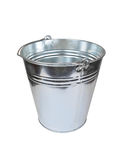 Metallic bucket Royalty Free Stock Image