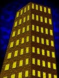 Metallic building. Skyscraper building stock illustration