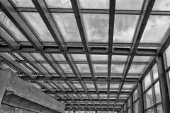 Metallic building framework in black and white Royalty Free Stock Photo