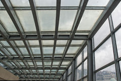 Metallic building framework Stock Photo
