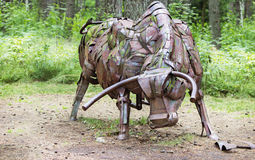 Metallic bull sculpture Royalty Free Stock Images