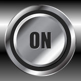 Metallic on button Royalty Free Stock Image
